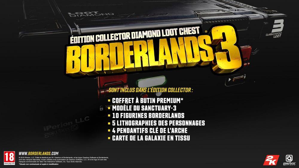 collector-borderlands-3-contenu Borderlands 3 - Les éditions spéciales et collector