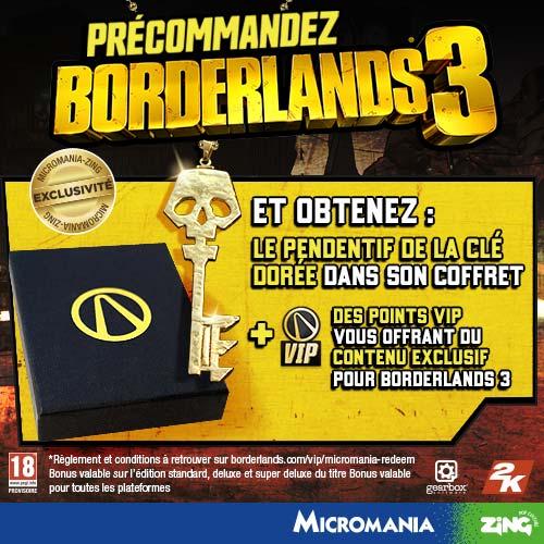 2K-BORDERLANDS-3-Offre-de-précommande-Micromania Borderlands 3 - Les éditions spéciales et collector