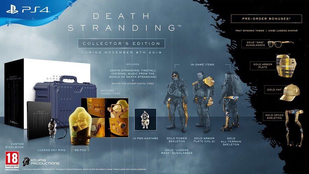 death-stranding-edition-collector-1024x576 Death Stranding - Les éditions Spéciales et Collector - Sortie le 8 novembre