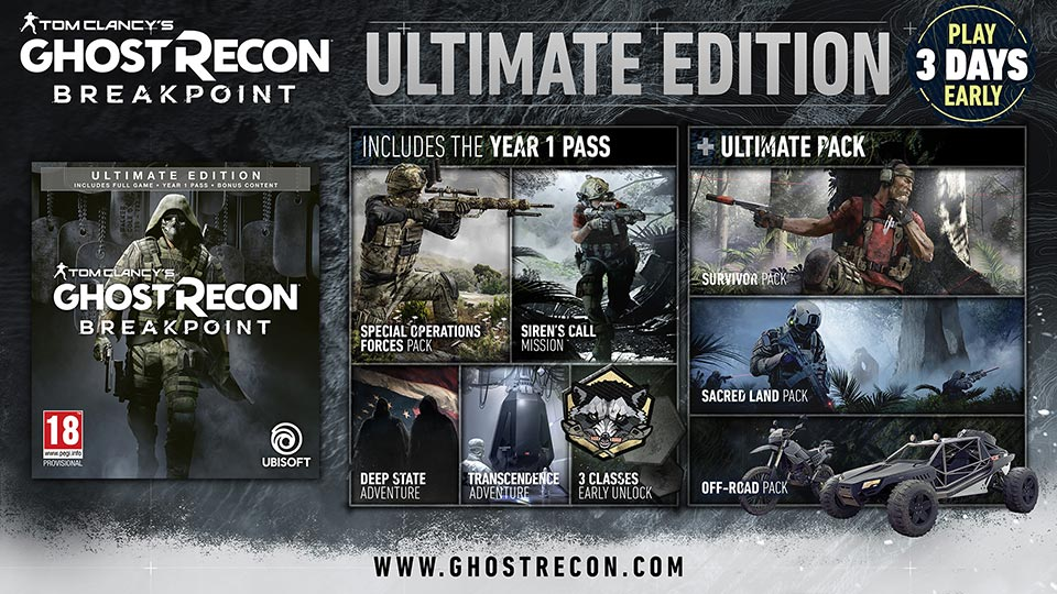 ghost-recon-breakpoint-édition-ultimate Ghost Recon Breakpoint - Les éditions spéciales et collector