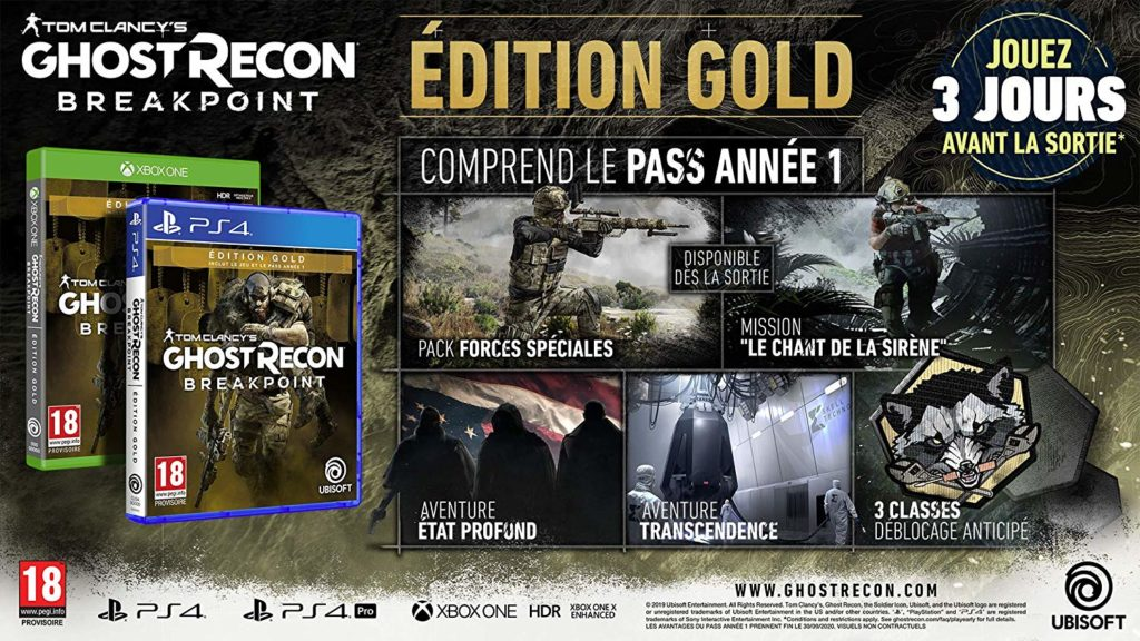 ghost_recon_breakpoint_gold-1024x576 Ghost Recon Breakpoint - Les éditions spéciales et collector