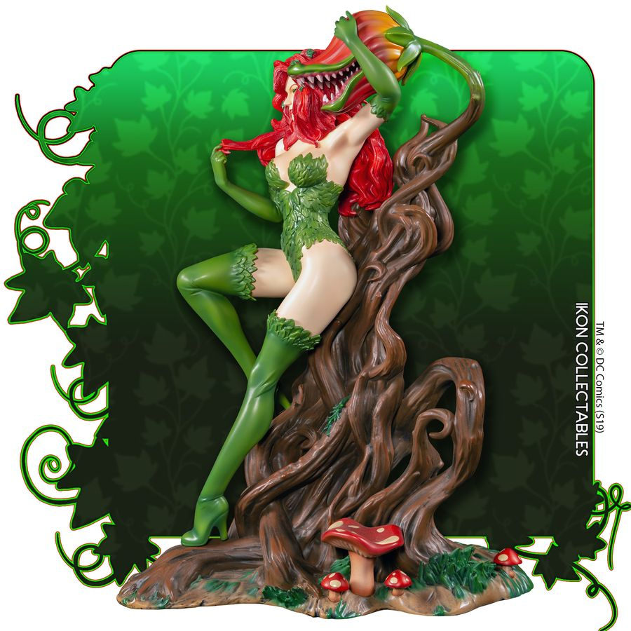 IKO1049-Poison-Ivy-Statue-3 Figurine - Poison Ivy et la fleur tueuse