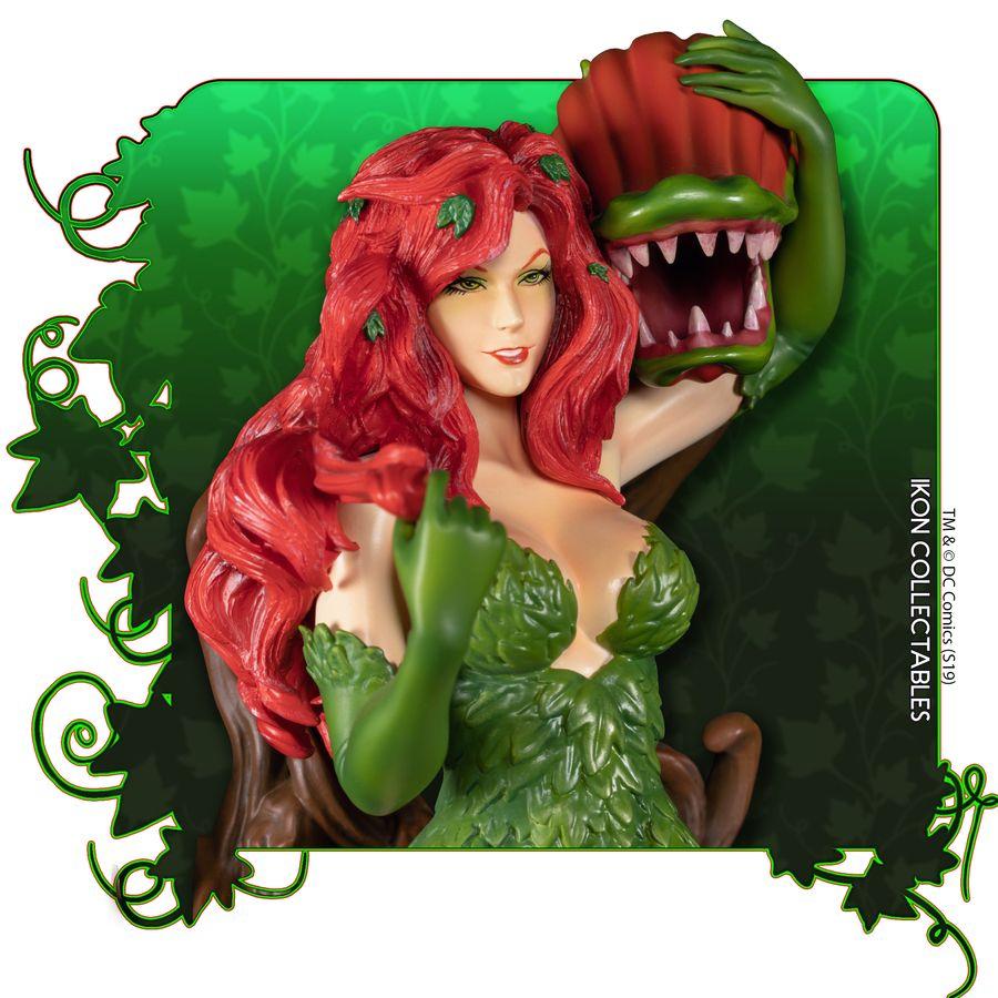 IKO1049-Poison-Ivy-Statue-8 Figurine - Poison Ivy et la fleur tueuse