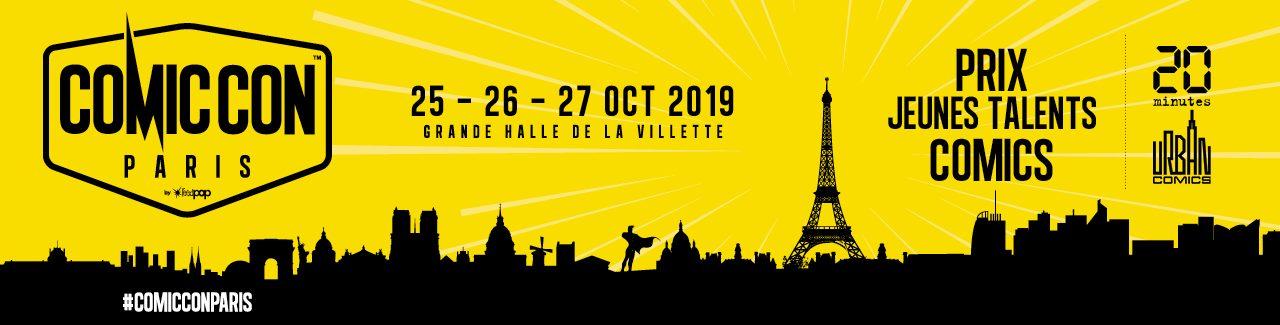 banniere-jeunes-talents Comic Con Paris 2019 - 3ème édition du Prix des Jeunes Talents Comics