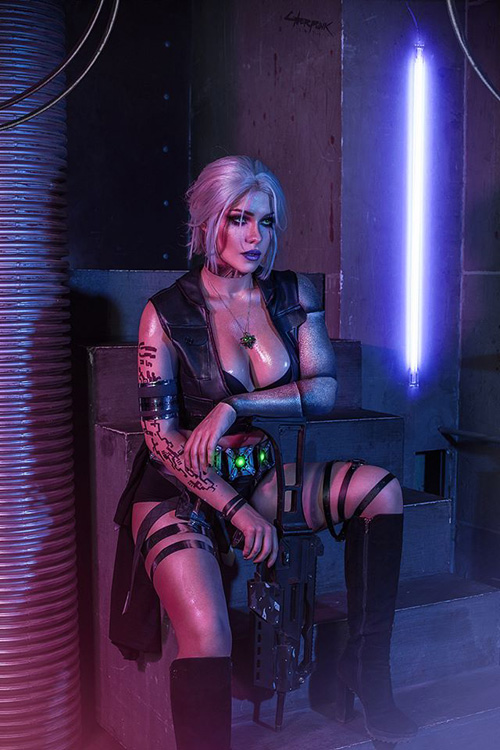 witcher-cyberpunk-cosplay-01 Cosplay - Quand The Witcher rencontre Cyberpunk #190