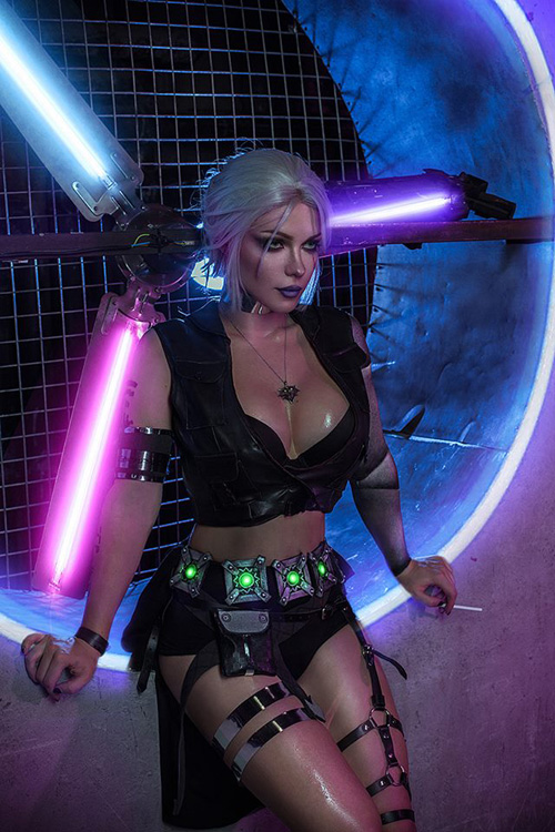 witcher-cyberpunk-cosplay-05 Cosplay - Quand The Witcher rencontre Cyberpunk #190