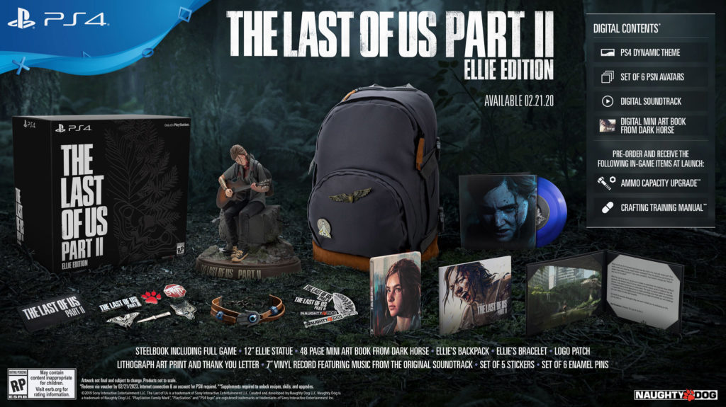 The-Last-Of-Us-Part-II-Ellie-Edition-1024x575 The Last of Us Part II  - Les éditions spéciales et collector - Sortie : 29/05/2020