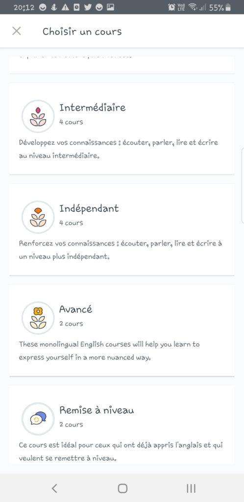 Screenshot_20191128-201229_English-498x1024 Babbel - Ou apprendre l'anglais sur son smartphone