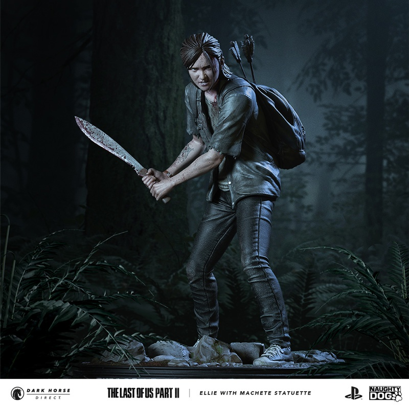 Figurine-Ellie-dans-The-Last-of-us-Part-II Une figurine d'Ellie chez Dark Horse (Avec Machette)