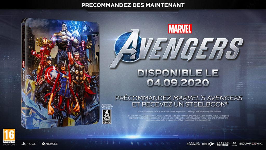 Marvel-avengers-steelbook-1024x576 Marvel's Avengers - Les différentes éditions - Préco Ouverte