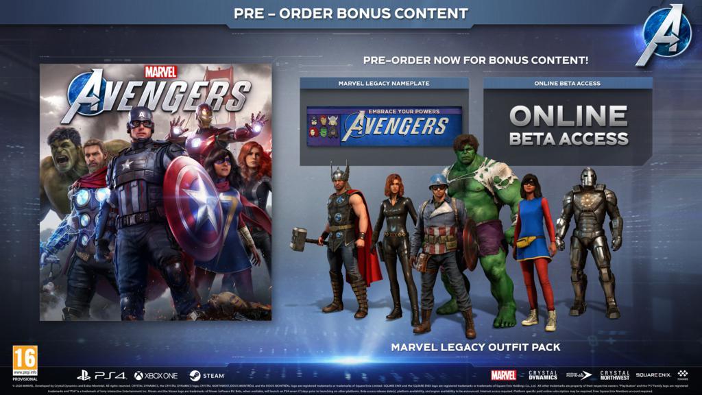 Marvel_s_Avengers_Pre-Order_Items_ENG_1024x576 Marvel's Avengers - Les différentes éditions - Préco Ouverte