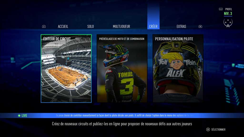 editeur_circuitI Mon avis sur Monster Energy Supercross 3 - Attention à la chute !
