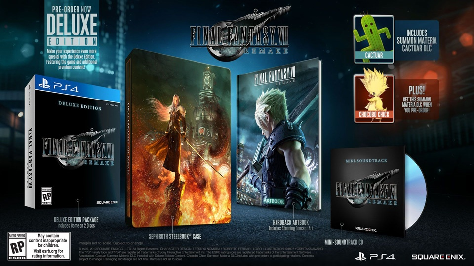 %C3%A9dition-deluxe-final-fantasy-VII-remake Final Fantasy VII - Steelbook et édition spéciale au meilleur prix