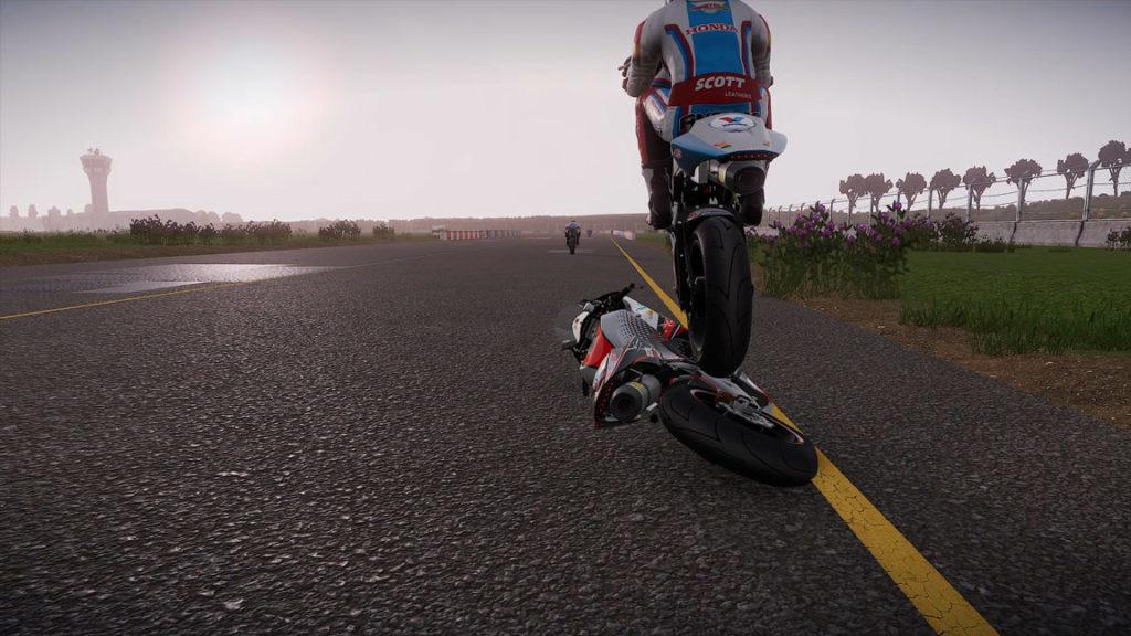 chute1-1024x576 Mon avis sur TT Isle of Man - Ride on the Edge 2 - On ne change pas une équipe qui gagne !