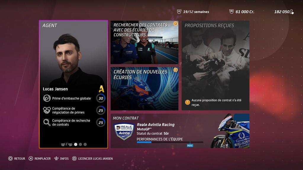 Menu_Carrirere_Gest_Equi2_MotoGP20 Mon avis sur Moto GP20 - Wheeling power !