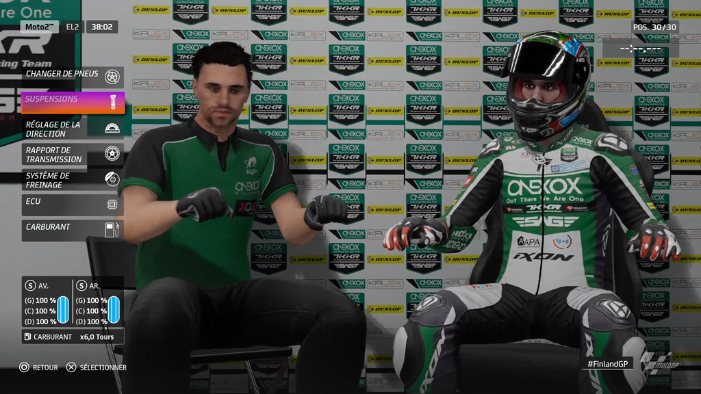 MotoGP20_reglage Mon avis sur Moto GP20 - Wheeling power !