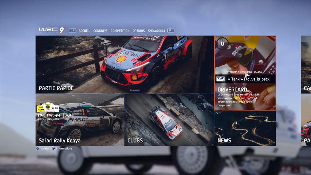 WRC9_menu_accueil Mon avis sur WRC 9 - Long droit sur ciel