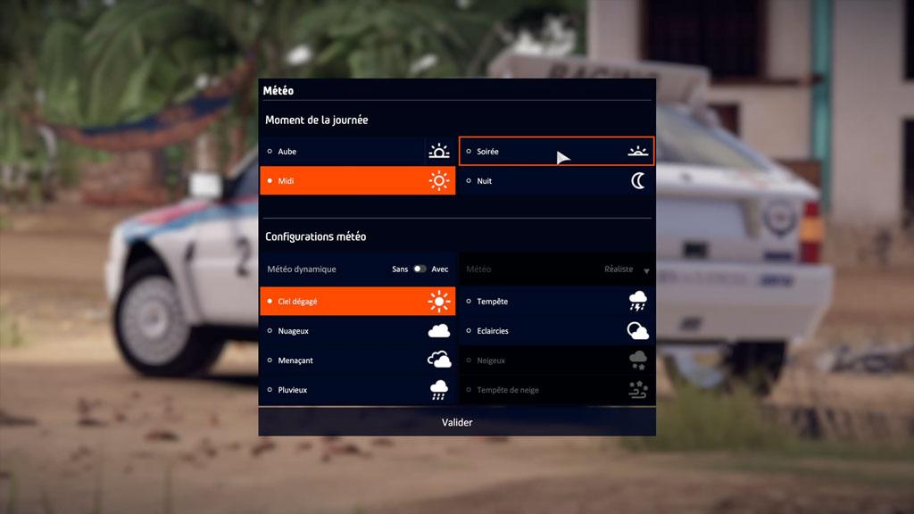 WRC9_menu_meteo Mon avis sur WRC 9 - Long droit sur ciel