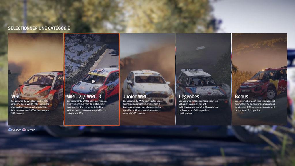 WRC9_menu_voiture Mon avis sur WRC 9 - Long droit sur ciel