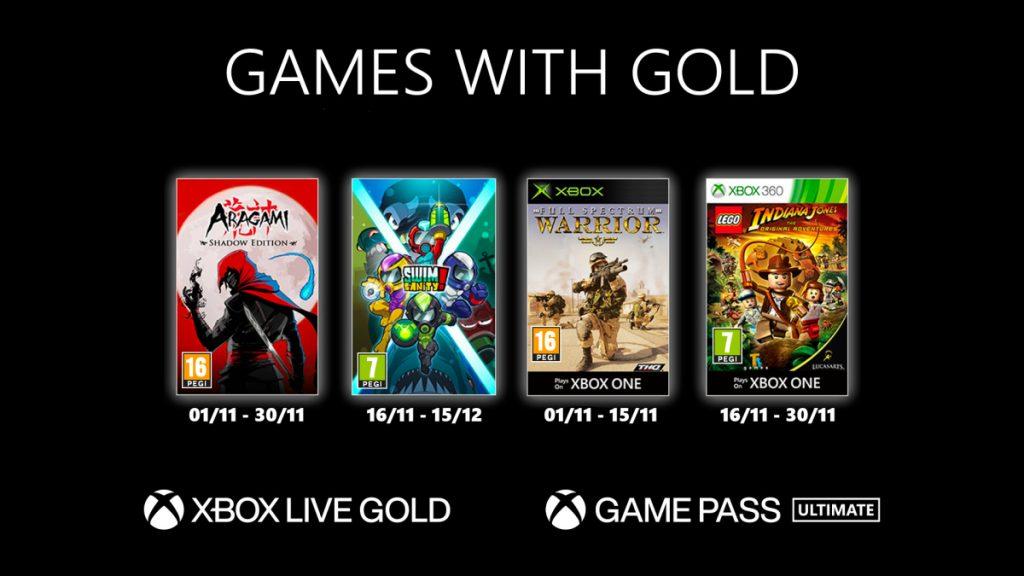 GwG-Novembre-1024x576 Games With Gold – les jeux de Novembre 2020
