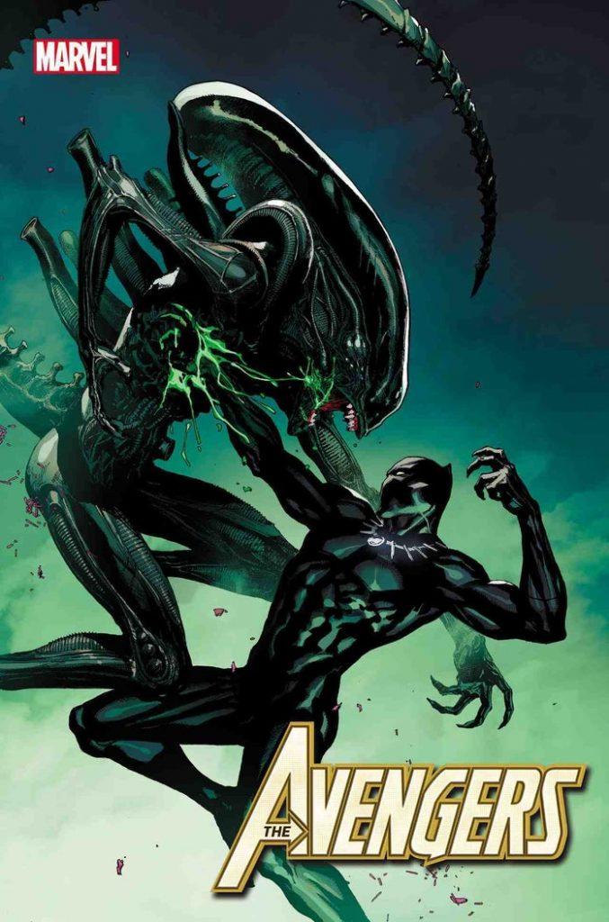 marvelvsalienavengers41leinilyu1242005-677x1024 Marvel - Premier aperçu du crossover entre les Avengers et Alien
