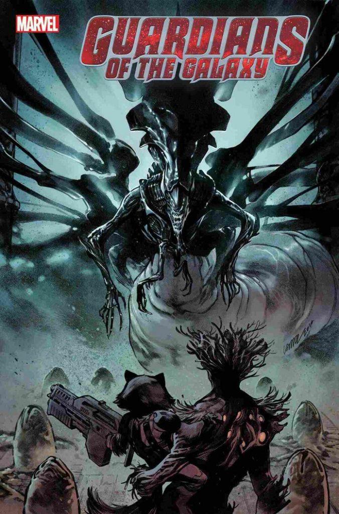 marvelvsalienguardiansofthegalaxy10pepelarraz1242012-676x1024 Marvel - Premier aperçu du crossover entre les Avengers et Alien