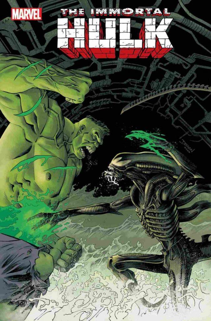 marvelvsalienimmortalhulk43declanshalvey1242013-674x1024 Marvel - Premier aperçu du crossover entre les Avengers et Alien