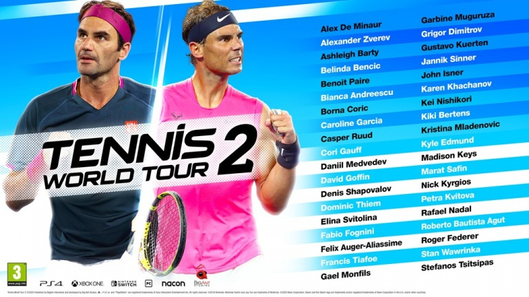TWT2-Liste-Joueur Mon avis sur Tennis World Tour 2 - Retour gagnant?