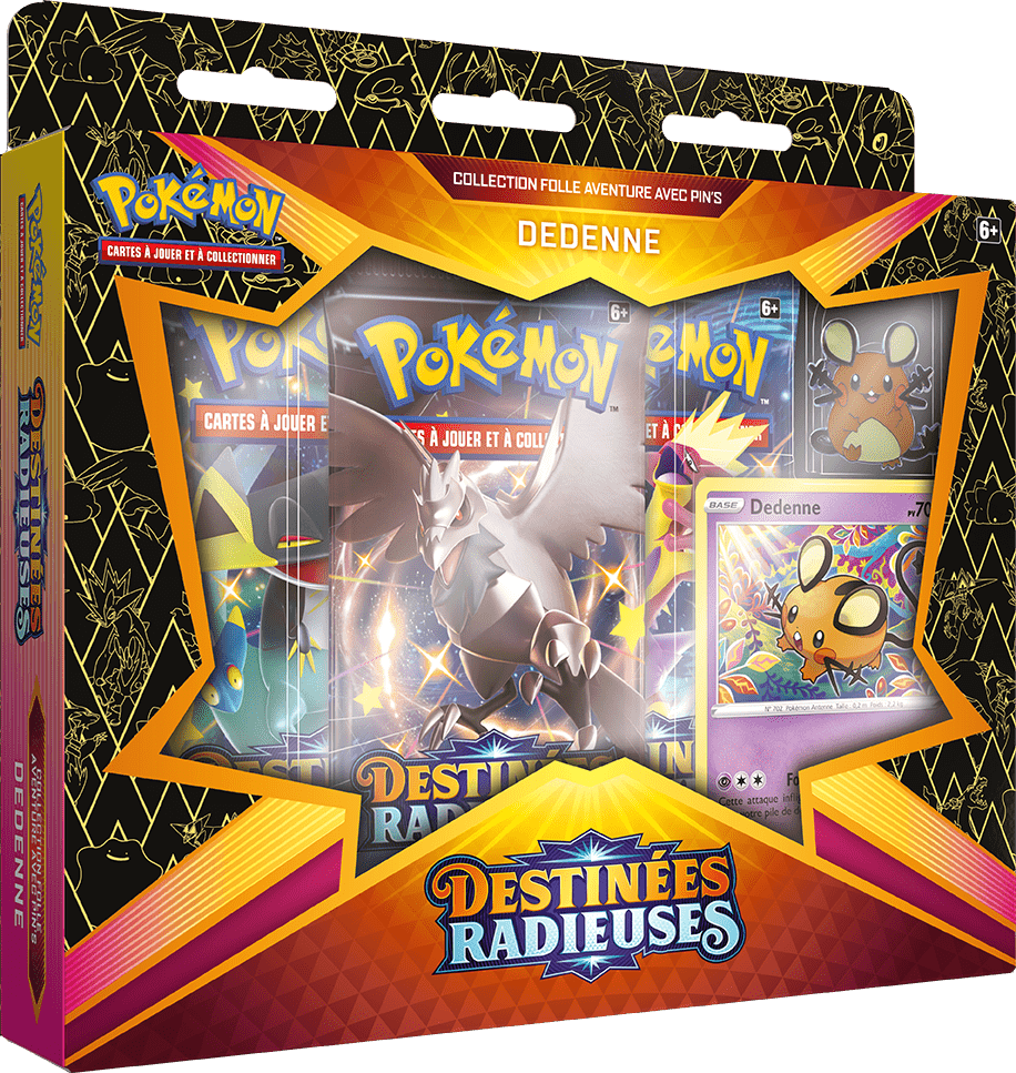 Destinees_Radieuses_Pin_Collection_Dedenne Pokemon - La nouvelle extension Destinées Radieuses du Jeu de Cartes