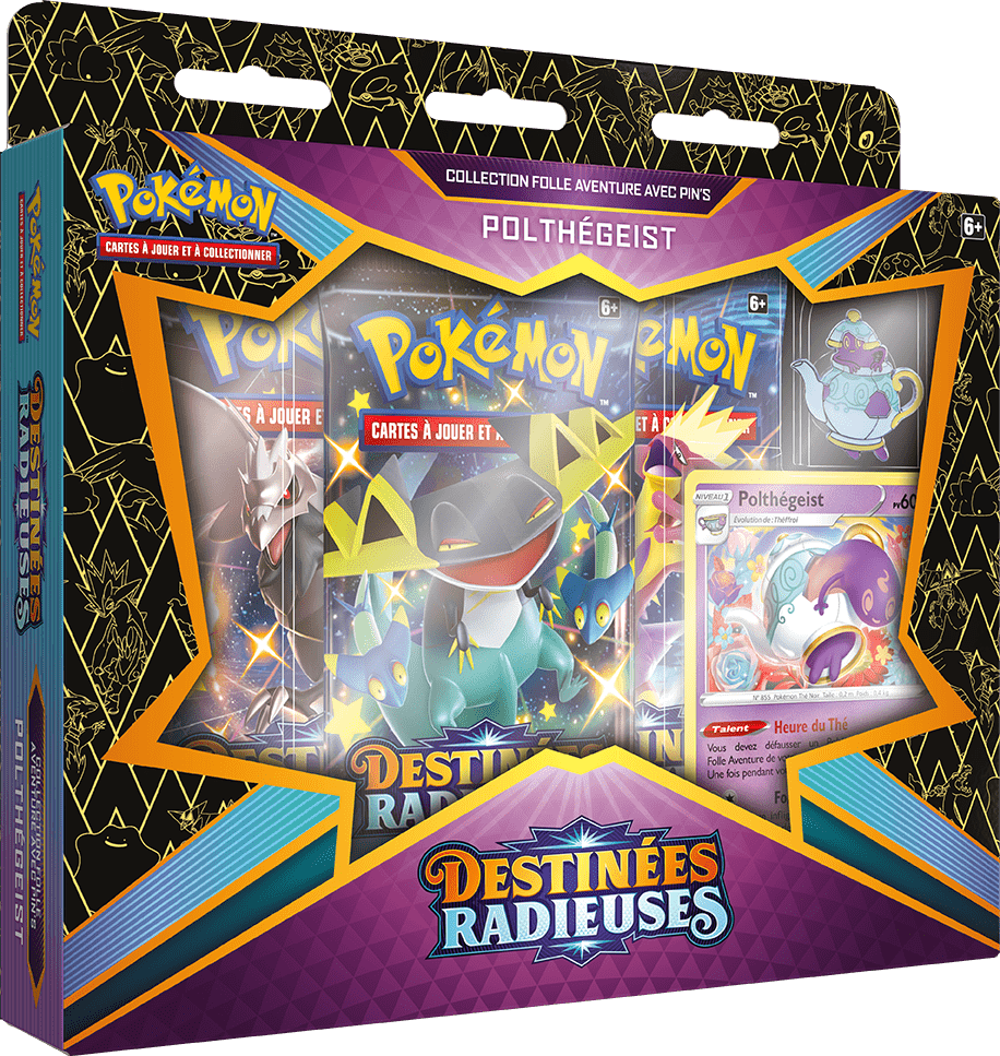 Destinees_Radieuses_Pin_Collection_Polthegeist Pokemon - La nouvelle extension Destinées Radieuses du Jeu de Cartes