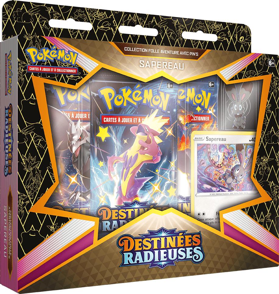 Destinees_Radieuses_Pin_Collection_Sapereau Pokemon - La nouvelle extension Destinées Radieuses du Jeu de Cartes