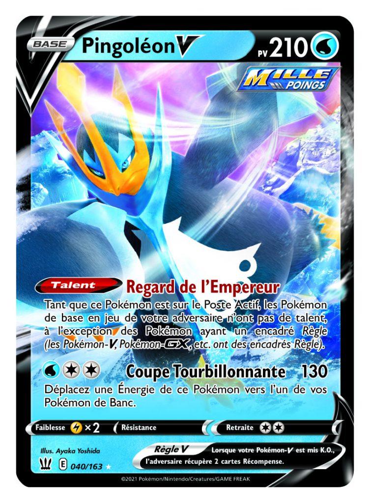 Epee_et_Bouclier_-_Styles_de_Combat_Pingoleon_V-753x1024 La nouvelle extension Épée et Bouclier – Styles de Combat du JCC Pokémon
