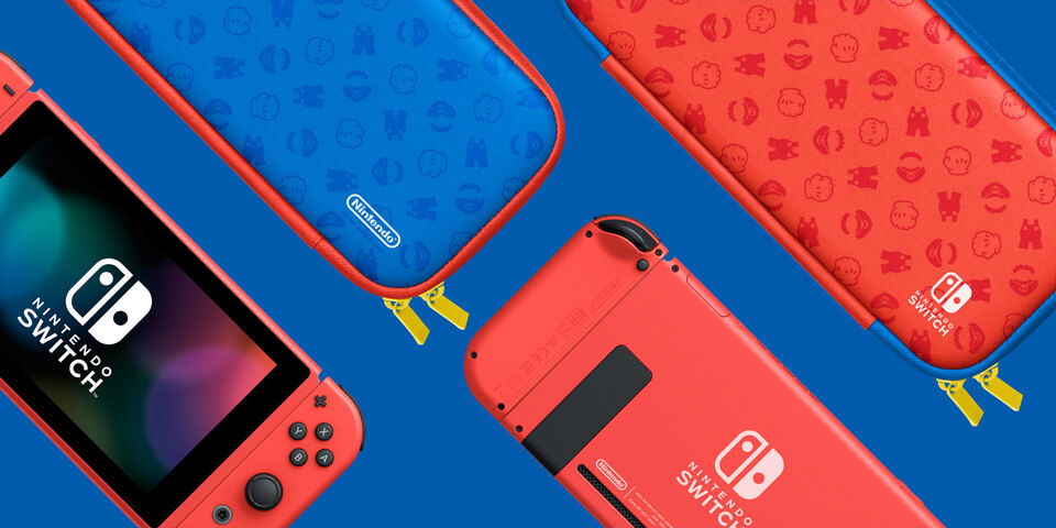 pochette-Nintendo-Switch-Rouge-et-Bleue-pour-la-sortie-de-Super-Mario-3D Nintendo Switch - Une version Rouge et Bleue dès le 12 février!