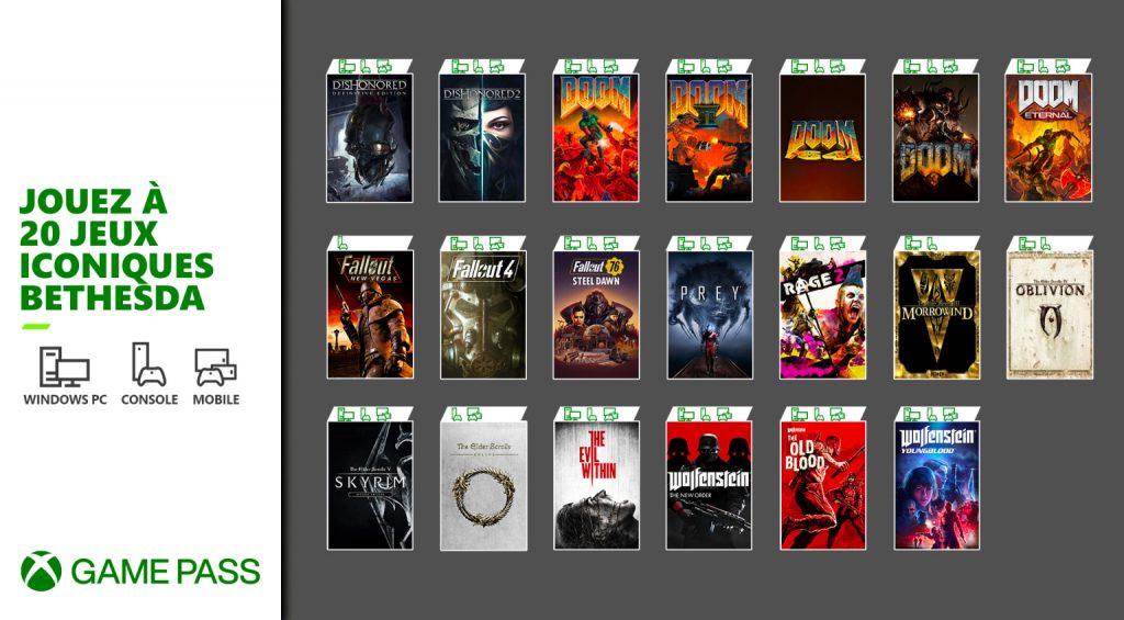 BethesdaXGP_InlineFR-1024x565 Game Pass - Les nouveaux jeux de Mars 2021 connus!