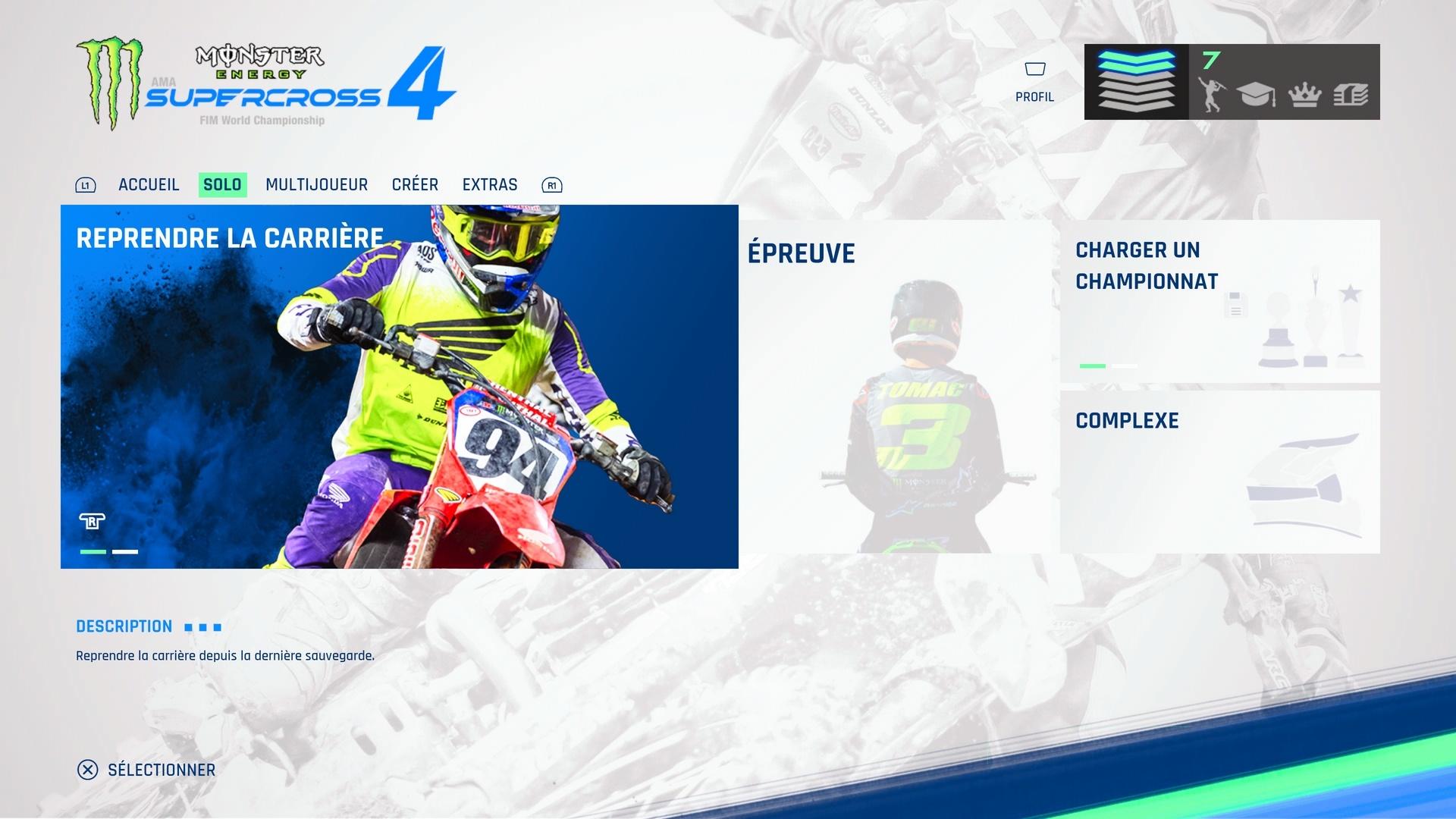 Menu_Principal Mon avis sur : Monster Energy Supercross 4