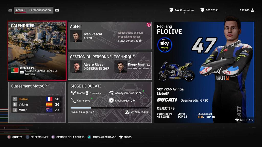 MotoGP21_Menu_Carriere Mon avis sur MotoGP 21 - Version 1.5 ?