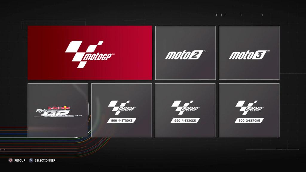 MotoGP21_Menu_Categorie Mon avis sur MotoGP 21 - Version 1.5 ?