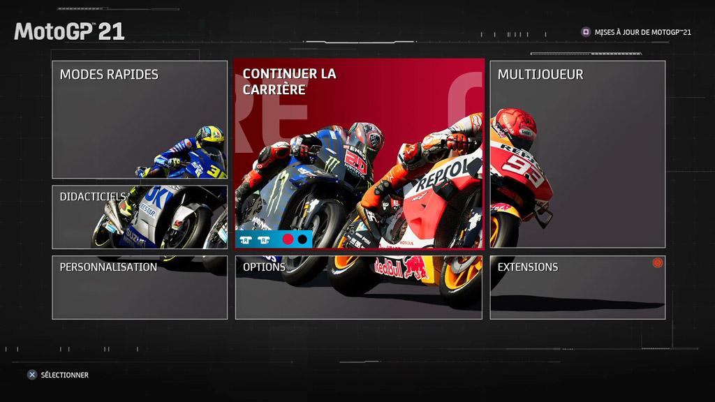 MotoGP21_Menu_principal Mon avis sur MotoGP 21 - Version 1.5 ?